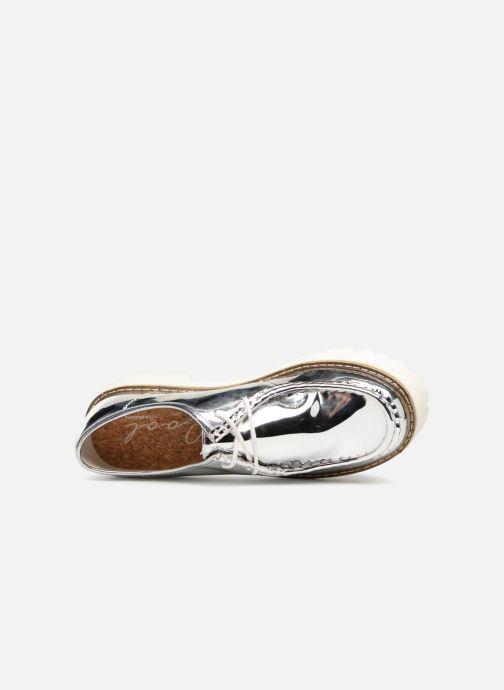 Zapatos con cordones Coolway PINEAPPLE Plateado vista lateral izquierda