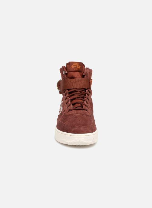 Sneaker Nike Sf Af1 Mid weinrot schuhe getragen