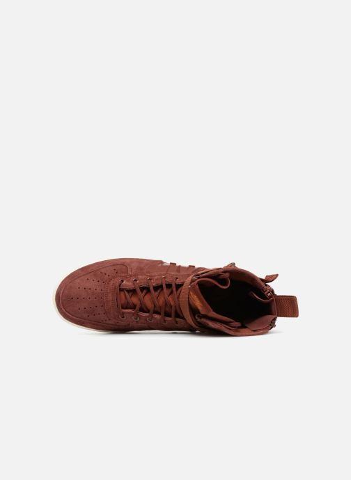 Sneaker Nike Sf Af1 Mid weinrot ansicht von links