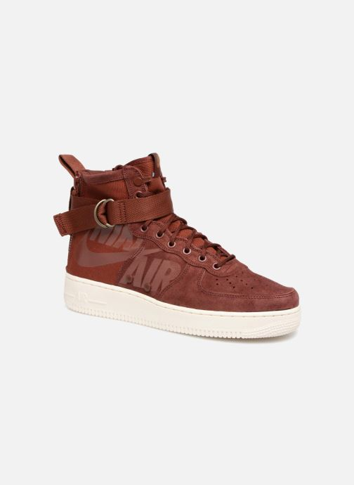 the best attitude dfccd 2d4d6 Baskets Nike Sf Af1 Mid Bordeaux vue détail paire