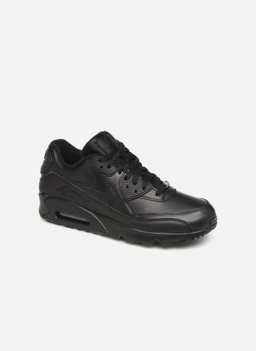 Trainers Nike Air Max 90 Leather Black detailed view/ Pair view