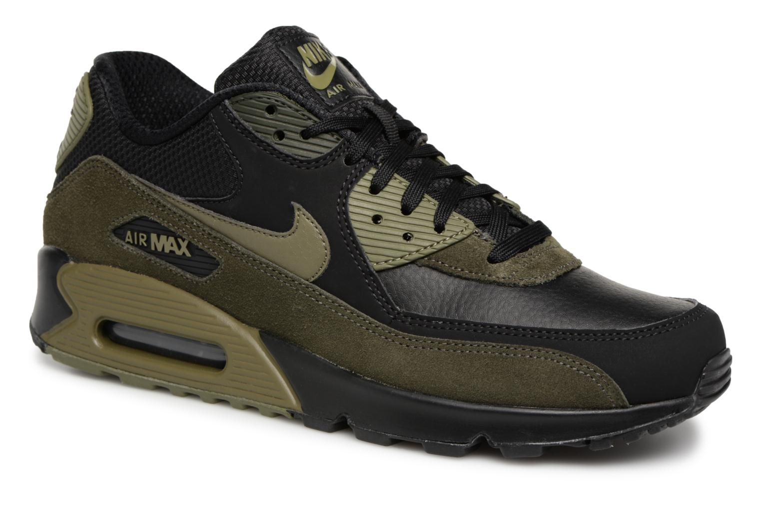 Baskets Nike Air Max 90 Leather Noir vue détail/paire