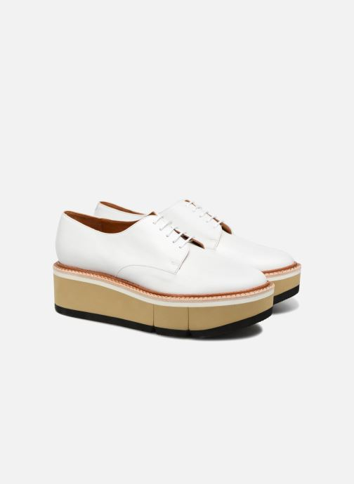 Chaussures à lacets Clergerie Barbara Blanc vue 3/4