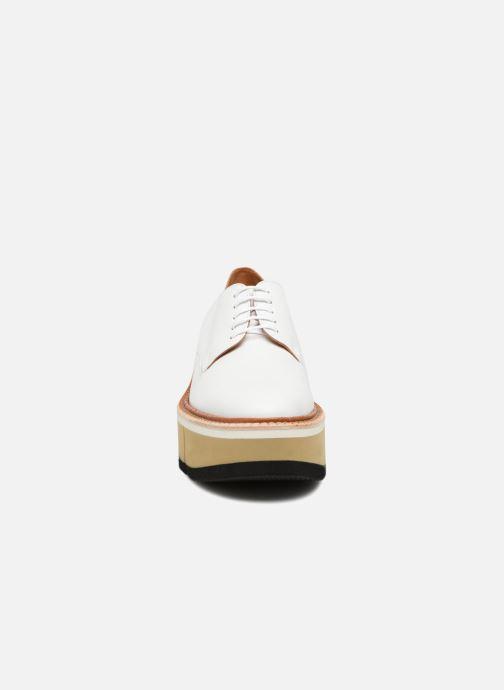 Chaussures à lacets Clergerie Barbara Blanc vue portées chaussures