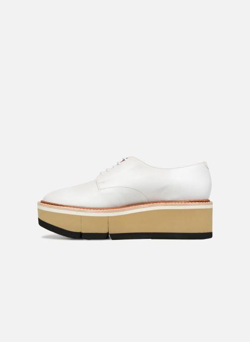Chaussures à lacets Clergerie Barbara Blanc vue face