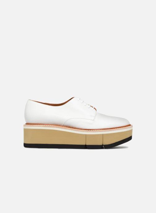 Zapatos con cordones Clergerie Barbara Blanco vistra trasera