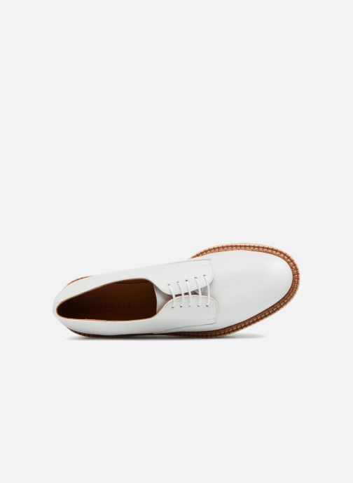 Zapatos con cordones Clergerie Barbara Blanco vista lateral izquierda