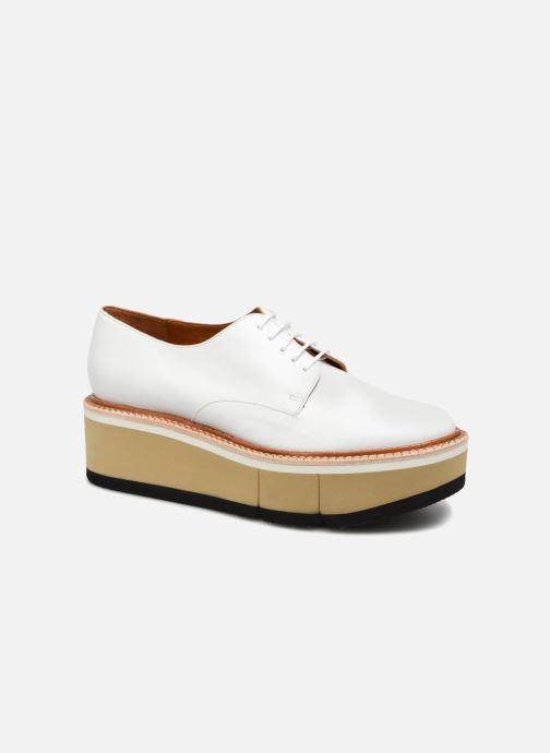 Chaussures à lacets Clergerie Barbara Blanc vue détail/paire