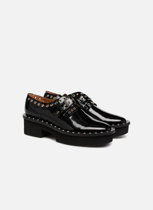 Zapatos con cordones Clergerie Bridget Negro vista 3/4