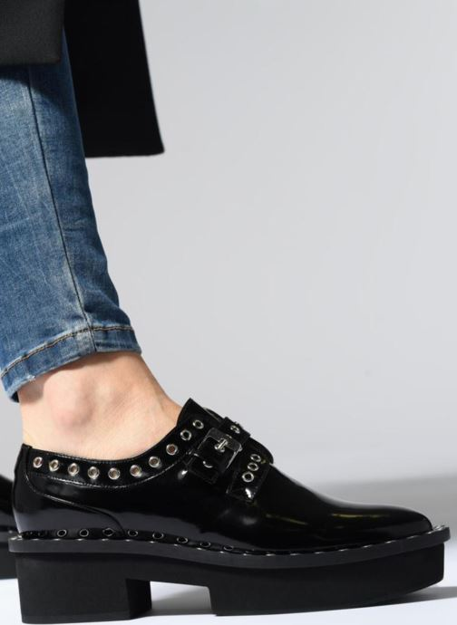 Lace-up shoes Clergerie Bridget Black view from underneath / model view