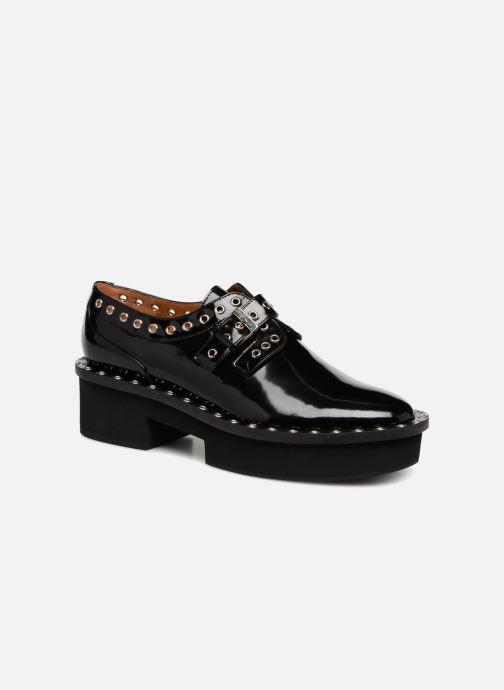 Snøresko Clergerie Bridget Sort detaljeret billede af skoene