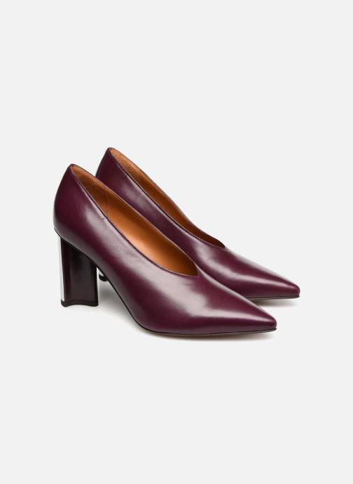High heels Clergerie Kathleen Purple 3/4 view