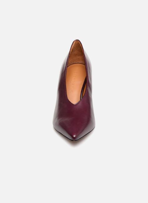Escarpins Clergerie Kathleen Violet vue portées chaussures
