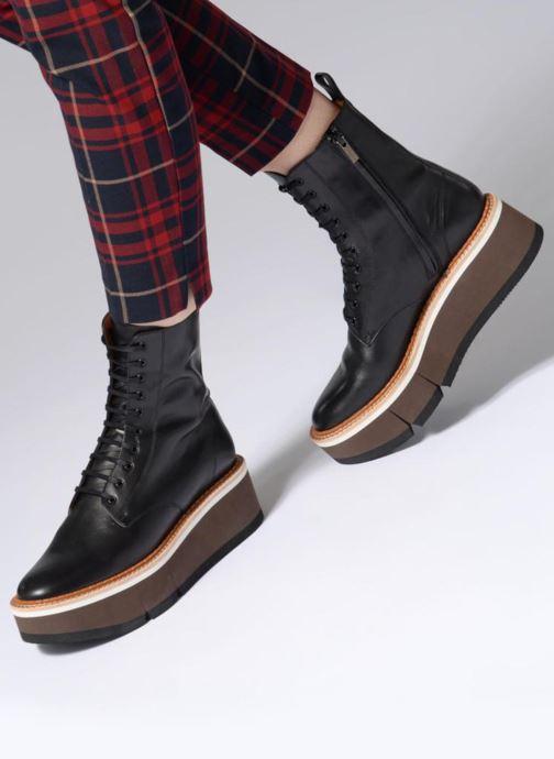 Bottines et boots Clergerie Berenice Noir vue bas / vue portée sac