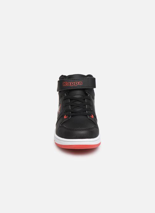 Baskets Kappa Karter Mid EV Noir vue portées chaussures