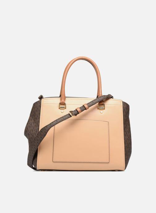 Handbags Michael Michael Kors BENNING LG SATCHEL Brown front view