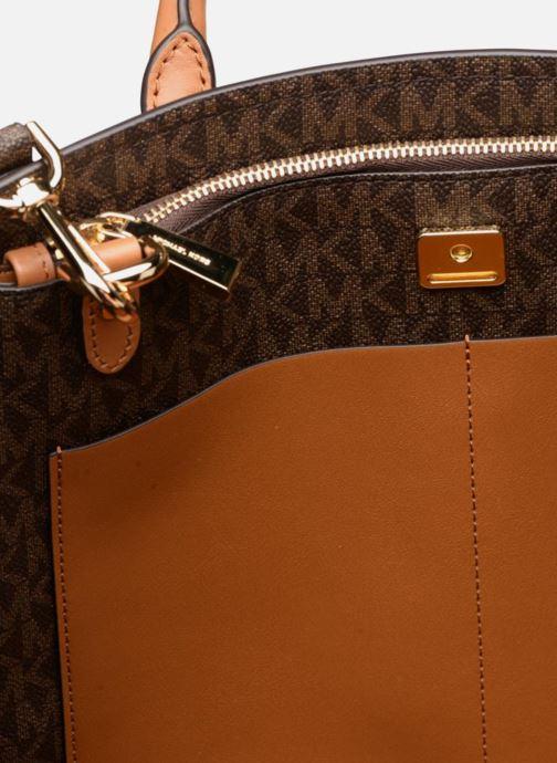 Handbags Michael Michael Kors BENNING LG SATCHEL Brown back view