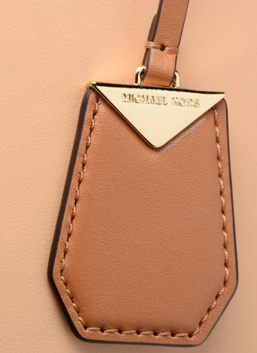 Handbags Michael Michael Kors BENNING LG SATCHEL Brown view from the left