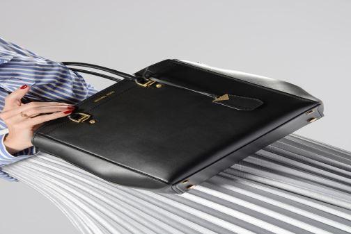 Handbags Michael Michael Kors BENNING LG SATCHEL Brown view from above