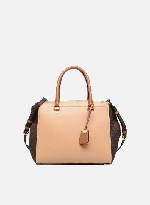 Handbags Michael Michael Kors BENNING LG SATCHEL Brown detailed view/ Pair view