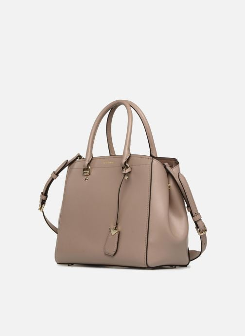 Handbags Michael Michael Kors BENNING LG SATCHEL Beige model view
