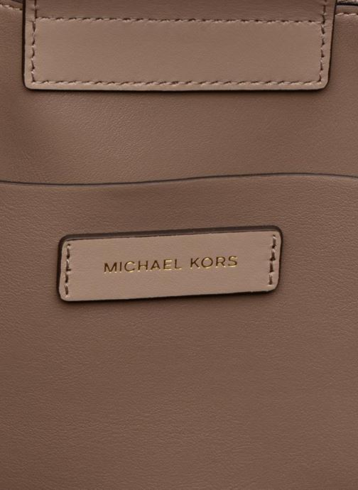 Handbags Michael Michael Kors BENNING LG SATCHEL Beige back view