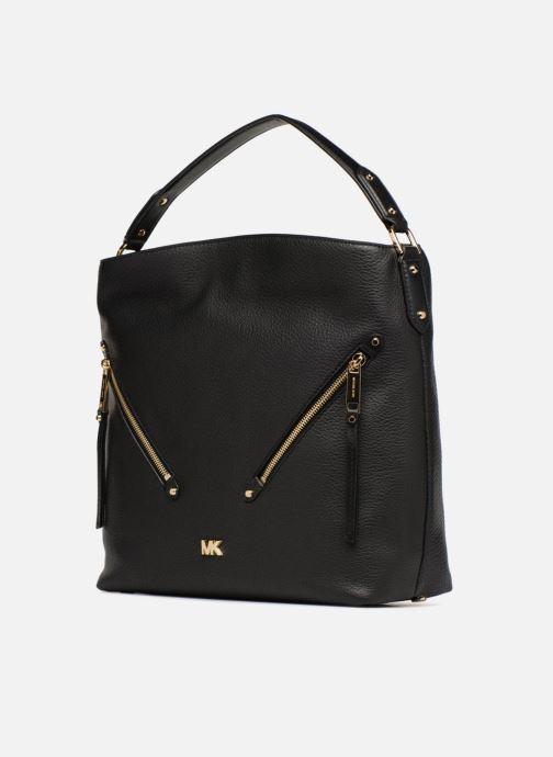 Handtassen Michael Michael Kors Evie LG Hobo Zwart model