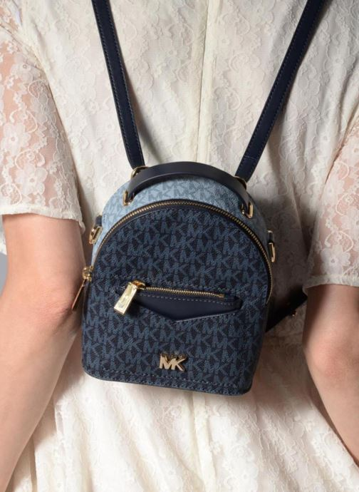 Rucksacks Michael Michael Kors Jessa XS Convertible Backpack Blue view from underneath / model view