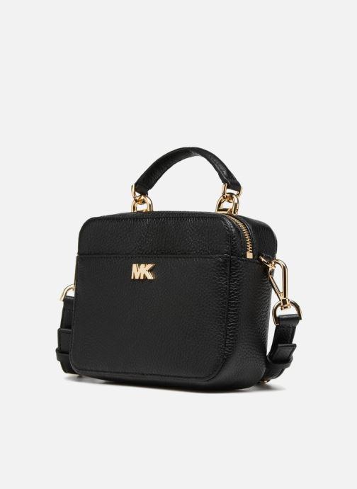 Handtaschen Michael Michael Kors Mini GTR Stripe Crossbody schwarz schuhe getragen