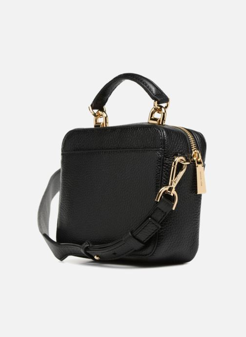 5f5573bc68978b Handbags Michael Michael Kors Mini GTR Stripe Crossbody Black view from the  right