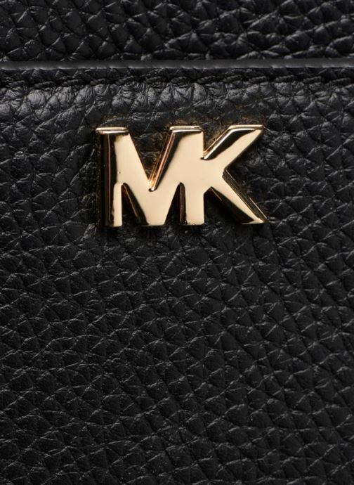 Handtaschen Michael Michael Kors Mini GTR Stripe Crossbody schwarz ansicht von links