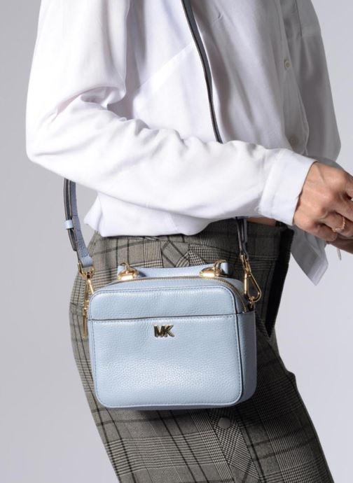 Handtassen Michael Michael Kors Mini GTR Stripe Crossbody Blauw boven
