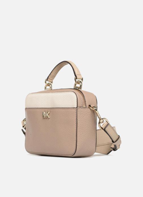 Handbags Michael Michael Kors Mini GTR Stripe Crossbody Beige model view