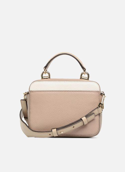 Handbags Michael Michael Kors Mini GTR Stripe Crossbody Beige front view