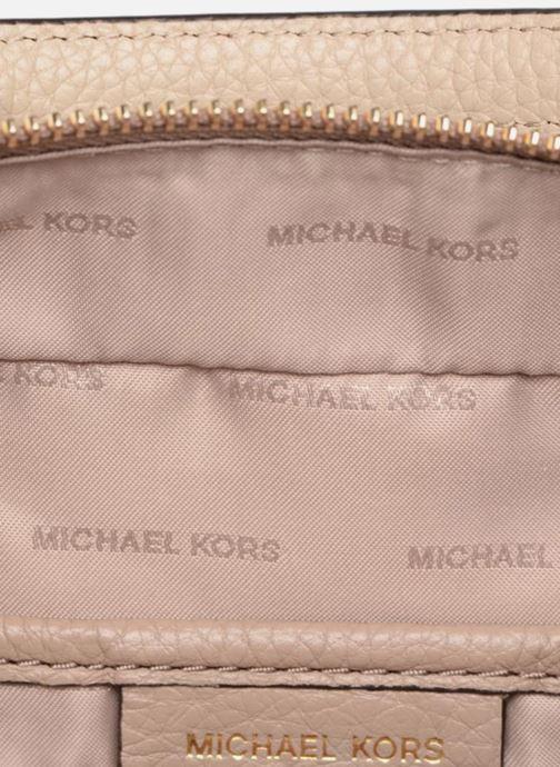 Handbags Michael Michael Kors Mini GTR Stripe Crossbody Beige back view