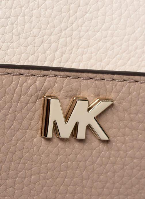 Handbags Michael Michael Kors Mini GTR Stripe Crossbody Beige view from the left