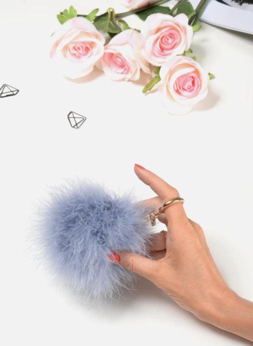 Petite Maroquinerie Michael Michael Kors Charm Fur Pompom Vert vue bas / vue portée sac