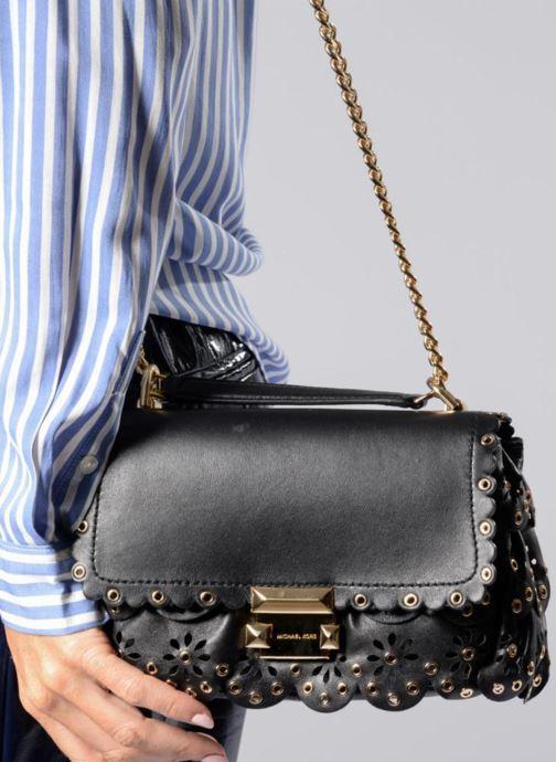 Handtaschen Michael Michael Kors Sloan SM Chain Shoulder schwarz ansicht von oben