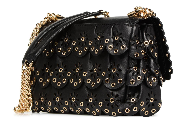Handtaschen Michael Michael Kors Sloan SM Chain Shoulder schwarz ansicht von rechts