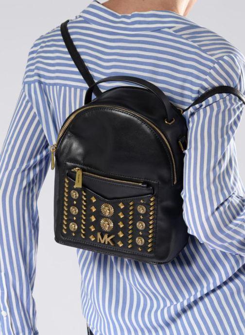 Rucksacks Michael Michael Kors Jessa SM Convertible Backpack Black view from underneath / model view