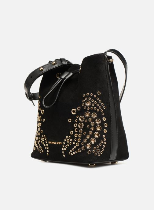 Handtaschen Michael Michael Kors CARY SM BUCKET BAG schwarz schuhe getragen