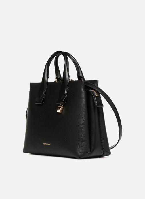 46e2875e92e8b Handtaschen Michael Michael Kors Rollins LG Satchel schwarz schuhe getragen