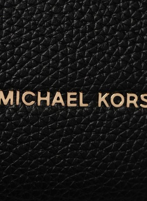 Sacs à main Michael Michael Kors Rollins LG Satchel Noir vue gauche