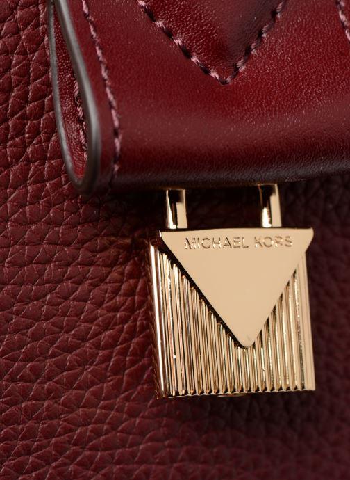 Bolsos de mano Michael Michael Kors Rollins LG Satchel Vino vista lateral izquierda