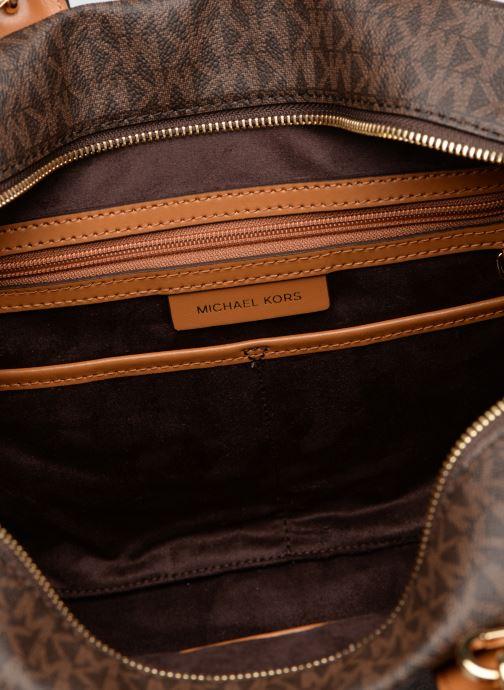Handtassen Michael Michael Kors Rollins LG Satchel Bruin achterkant