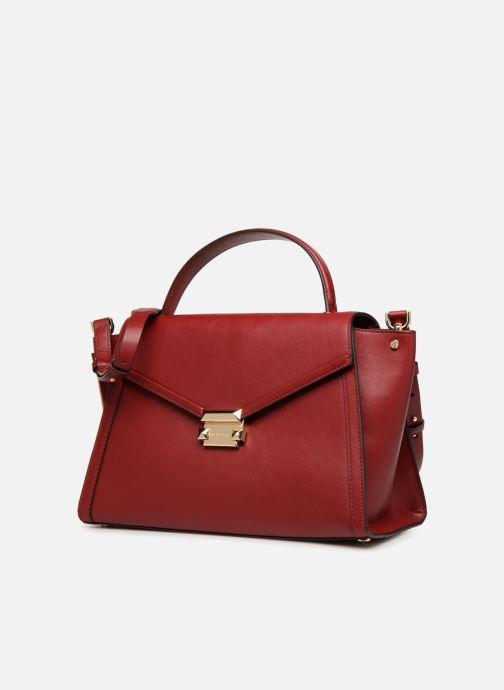 74ddf4bce16 Sacs à main Michael Michael Kors Whitney LG TH Satchel Bag Rouge vue  portées chaussures