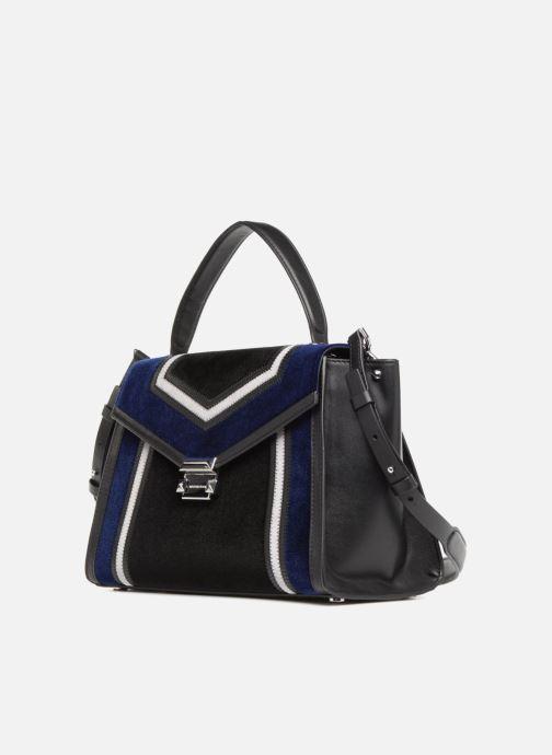 Bolsos de mano Michael Michael Kors Whitney LG TH Satchel Bag Negro vista del modelo