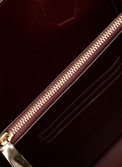 Handtassen Michael Michael Kors Mercer MD Accordian Messenger Bordeaux achterkant