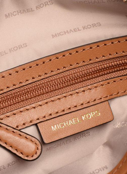 Handtassen Michael Michael Kors MD HALF MOON CROSSBODY Bruin achterkant