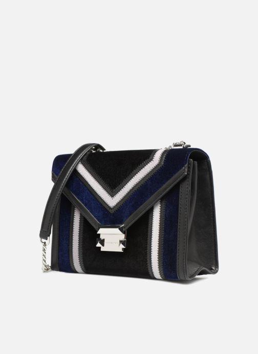 Sacs à main Michael Michael Kors Whitney LG Shoulder Bag Bleu vue portées chaussures